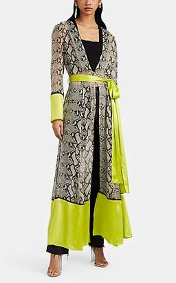 Leone WE ARE Women's Python-Print Silk Maxi Robe