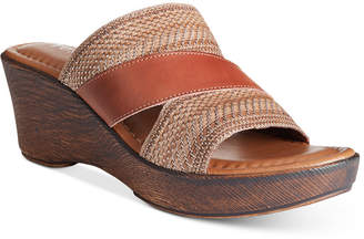 Easy Street Shoes Tuscany by Positano Wedge Sandals Women's Shoes