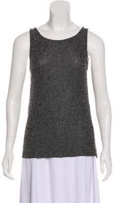 Donna Karan Beaded Sleeveless Top