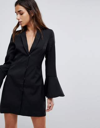 Missguided Bell Sleeve Blazer Dress