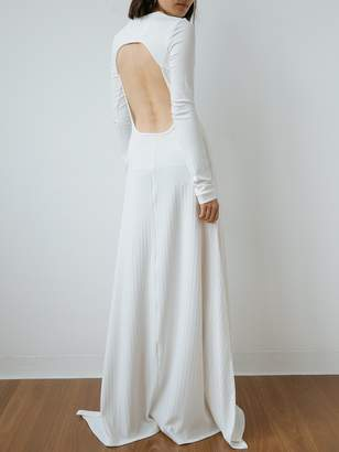 New View Michael Lo Sordo Backless Jersey Maxi Dress