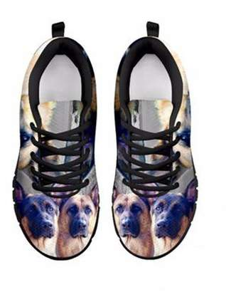 Laurèl Shoetup Customized German Shepherd Dog Print Women's Running Shoes Designed by Cowell (5, )
