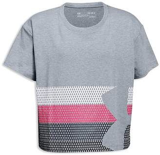Under Armour Girls' Graphic Logo Tee - Big Kid