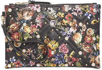 INC International Concepts I.n.c. Molyy Quilted Floral Wristlet Clutch