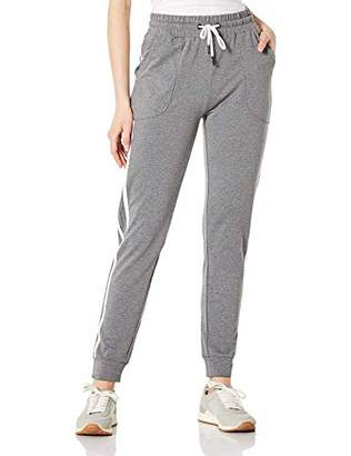 BLUE CHILL Womens Workout Drawstring Sweatpants with Pockets Ribbed Cuff