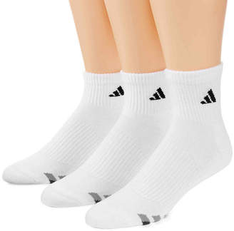 adidas 3-pk. Mens Athletic Cushioned Quarter Socks - Extended Size