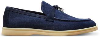 Loro Piana Summer Charm denim slippers