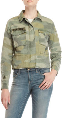 Superdry Washed Camo Cropped Utility Jacket