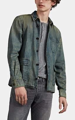 John Varvatos Men's Darren Selvedge-Denim Work Shirt - Blue