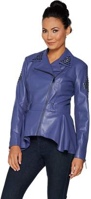 G.I.L.I. Got It Love It G.I.L.I. Faux Leather Peplum Motorcycle Jacket