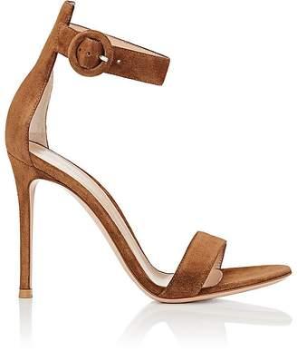 Gianvito Rossi Women's Portofino Suede Ankle-Strap Sandals