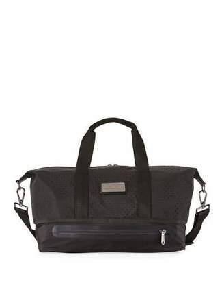 adidas by Stella McCartney Gunmetal Mesh Gym Bag, Black/Gray $150 thestylecure.com