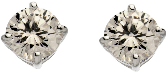 Carolee Sterling Silver Cubic Zirconia Stud Earrings