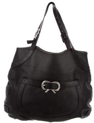 Anya Hindmarch Leather Shoulder Bag Black Leather Shoulder Bag