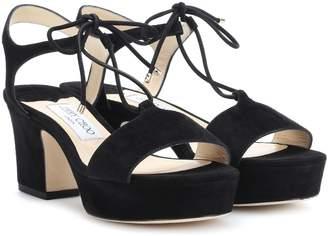 Jimmy Choo Belize 65 suede sandals