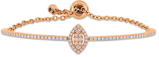 Diamond Select Cuts 18K Rose Gold 0.61 Ct. Tw. Diamond Bangle