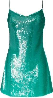 Natasha Zinko sequinned spaghetti strap mini dress