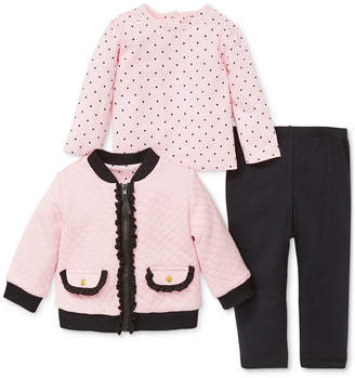 Little Me Baby Girls 3-Pc. Jacket, T-Shirt & Pants Set