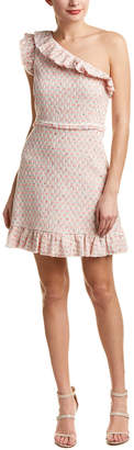 Rebecca Taylor Tweed Linen-Blend A-Line Dress
