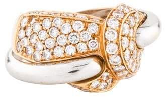 Andreoli 18K Diamond Knot Ring