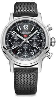 Chopard Mille Miglia Stainless Steel& Black Rubber Strap Watch