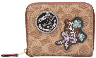 Coach applique logo wallet