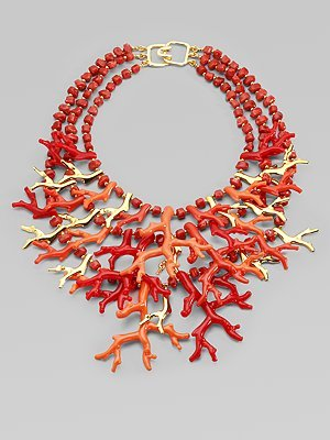 Kenneth Jay Lane Coral Reef Necklace