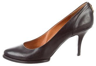 Givenchy Leather Semi Pointed-Toe Pumps