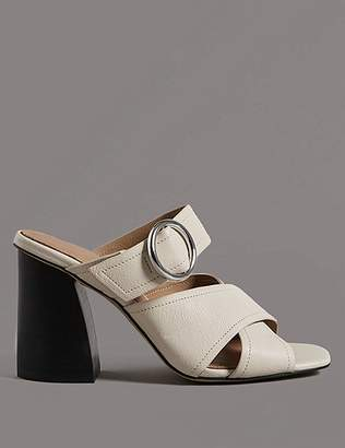 Marks and Spencer Leather Ring Mule Sandals