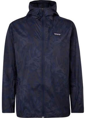 Patagonia Houdini Waterproof Camouflage-Print Ripstop Hooded Jacket