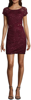 BY AND BY by&by Short Sleeve Bodycon Dress-Juniors