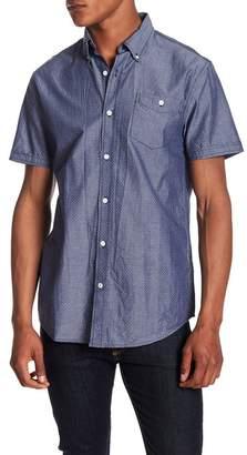 Weatherproof Woven Stitch Dot Short Sleeve Shirt