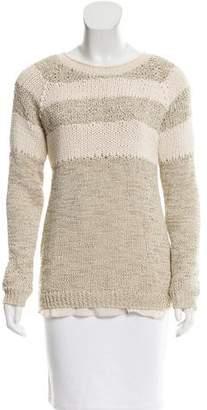 Brunello Cucinelli Striped Rib Knit-Trimmed Sweater