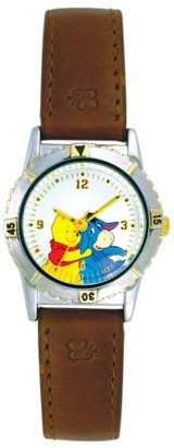 Disney (ディズニー) - Disney Winnie the Pooh and Eeyore Watch BrownレザーStrap and回転ダイヤルwtp057