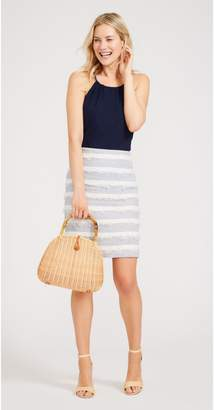 J.Mclaughlin Elm Linen Skirt in Stripe