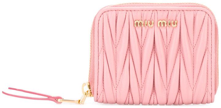 Miu MiuMiu Miu textured zip purse