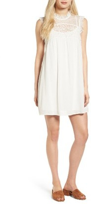 Women's Hinge Lace Yoke Babydoll Dress $89 thestylecure.com