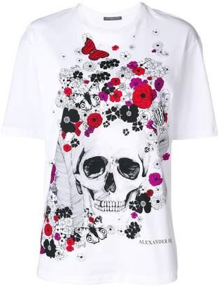 Alexander McQueen floral skull-motif T-shirt