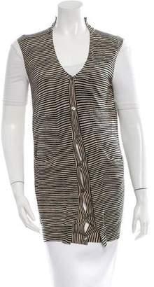 Marni Stripe Button-Up Vest