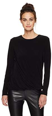 Norma Kamali Women's Long Sleeve Twist Top