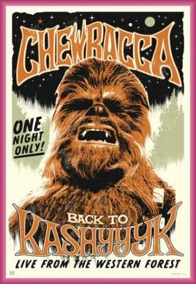 Star Wars 1art1 Poster and Frame (Plastic) - Chewbacca, Rock (36 x 24 inches)