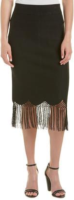A.L.C. Rose Fringe Midi Skirt