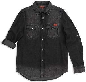 7 For All Mankind Boys' Western Denim Shirt - Big Kid