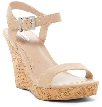 Charles by Charles David Lindy Suede Wedge Sandal