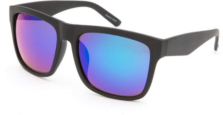 Blue Crown Choas Square Sunglasses