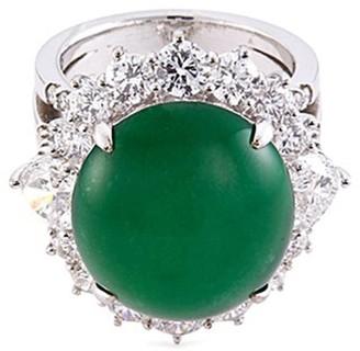 Lc Collection Jade Diamond jade 18k gold ring