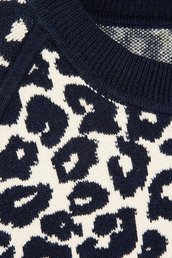 Iris & Ink Esme leopard-print knitted sweater
