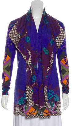 Etro Silk & Cashmere Paisley Cardigan Indigo Silk & Cashmere Paisley Cardigan