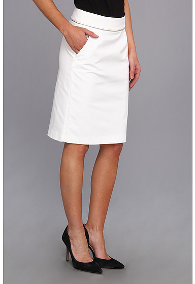 Calvin Klein Cotton Skirt With Beaded Waist Line Detail