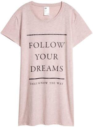 H&M Nightgown with Printed Design - Orange